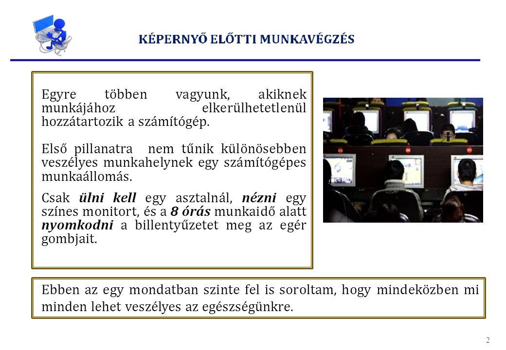 Ma már bizonyított tény, hogy a képernyő előtt végzett munka az egyoldalú igénybevétel miatt betegséget okozhat.