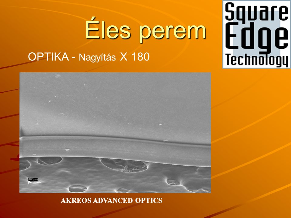 Éles perem OPTIKA - Nagyítás X 180 AKREOS ADVANCED OPTICS