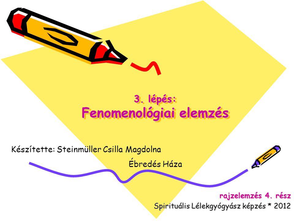 3.lépés: Fenomenológiai elemzés rajzelemzés 4.