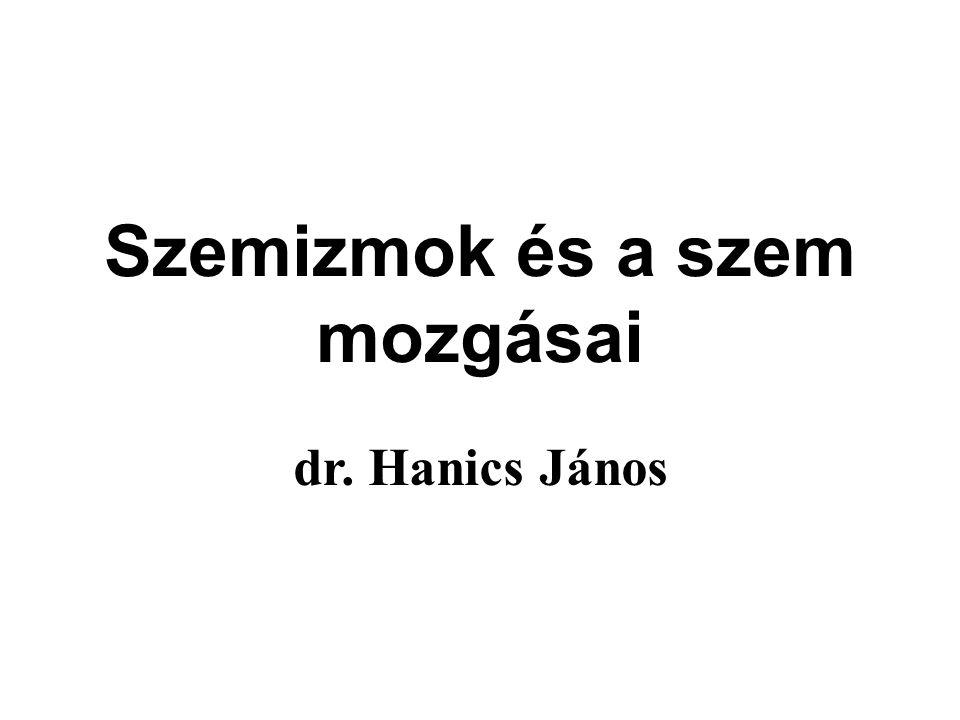 Szemizmok és a szem mozgásai dr. Hanics János