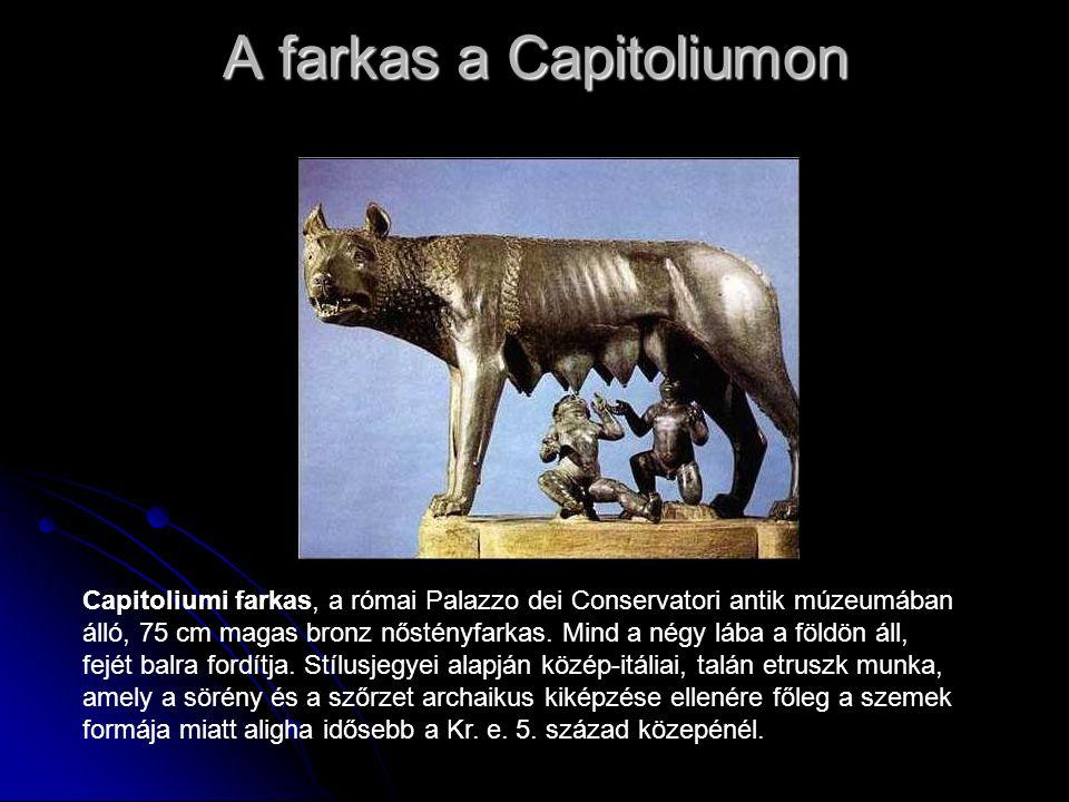 A farkas a Capitoliumon Capitoliumi farkas, a római Palazzo dei Conservatori antik múzeumában álló, 75 cm magas bronz nőstényfarkas. Mind a négy lába