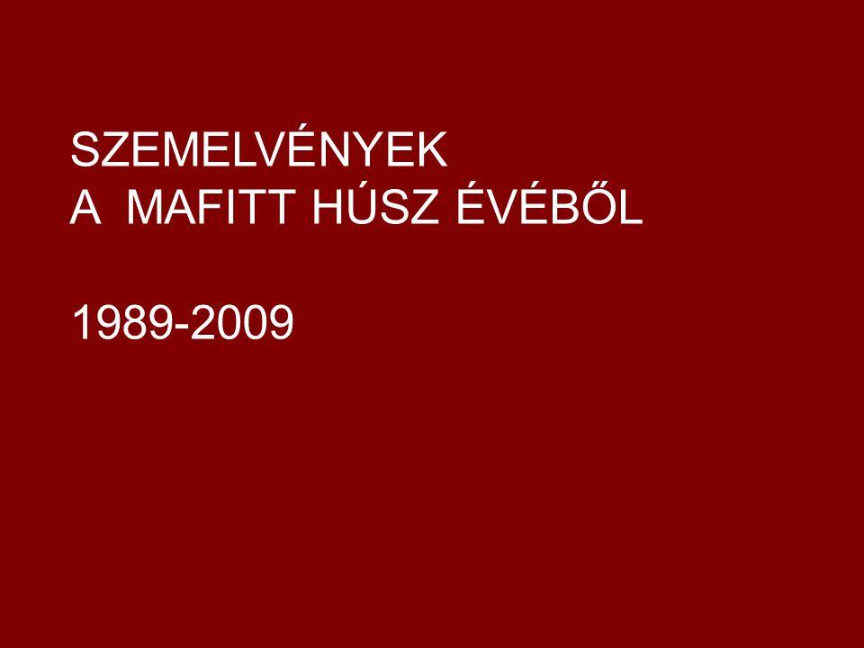 Az első MAFITT-szalon az Akadémia budavári dísztermében 1992