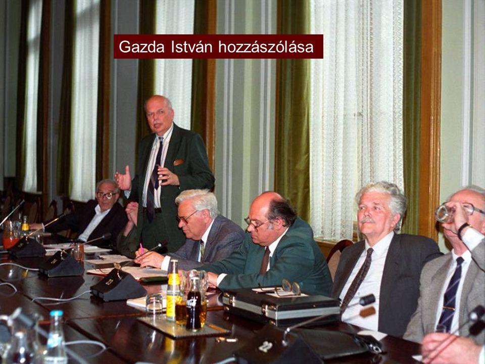 Fresacher-székfoglaló a minisztérium előadótermében