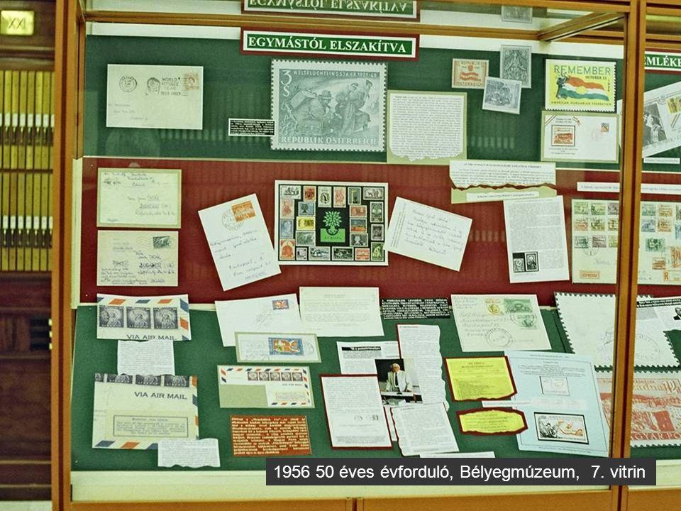1956 50 éves évforduló, Bélyegmúzeum, 8. vitrin