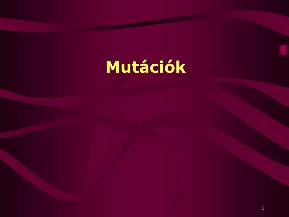 1 Mutációk