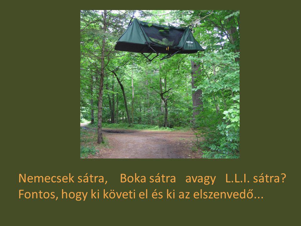 Nemecsek sátra, Boka sátra avagy L.L.I. sátra Fontos, hogy ki követi el és ki az elszenvedő....