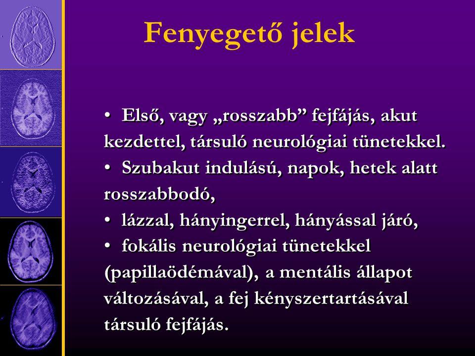 A fejfájás diagnózisának változása egyénenként nincs ff.