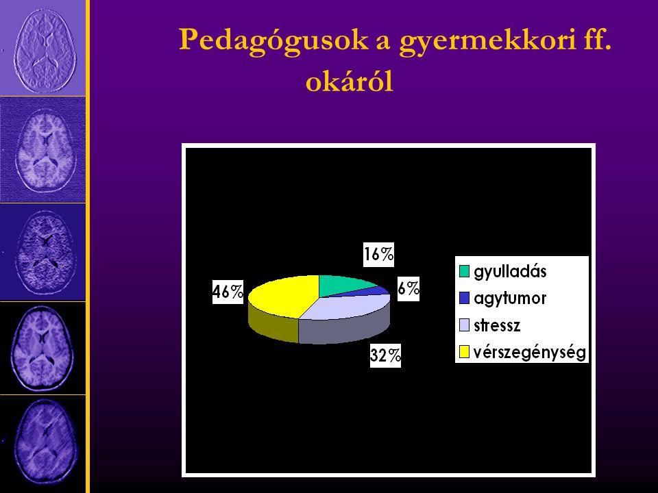 Pedagógusok a gyermekkori ff. okáról