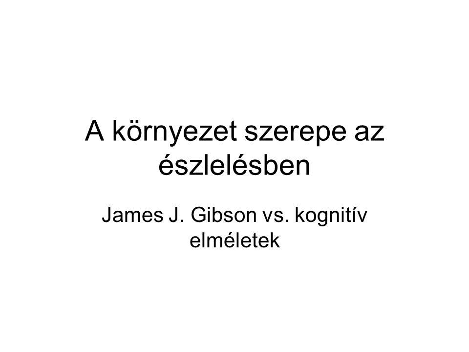 A környezet szerepe az észlelésben James J. Gibson vs. kognitív elméletek