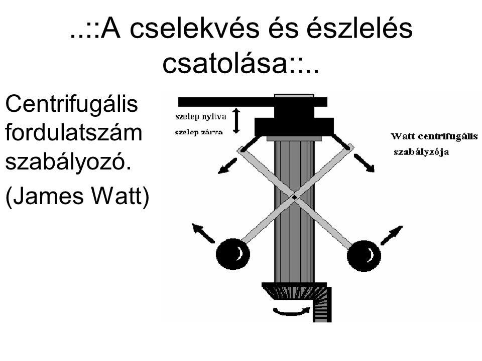 ..::A cselekvés és észlelés csatolása::.. Centrifugális fordulatszám szabályozó. (James Watt)