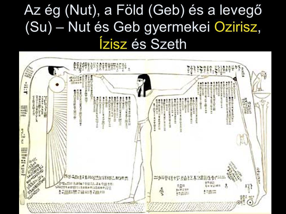 Az ég (Nut), a Föld (Geb) és a levegő (Su) – Nut és Geb gyermekei Ozirisz, Ízisz és Szeth