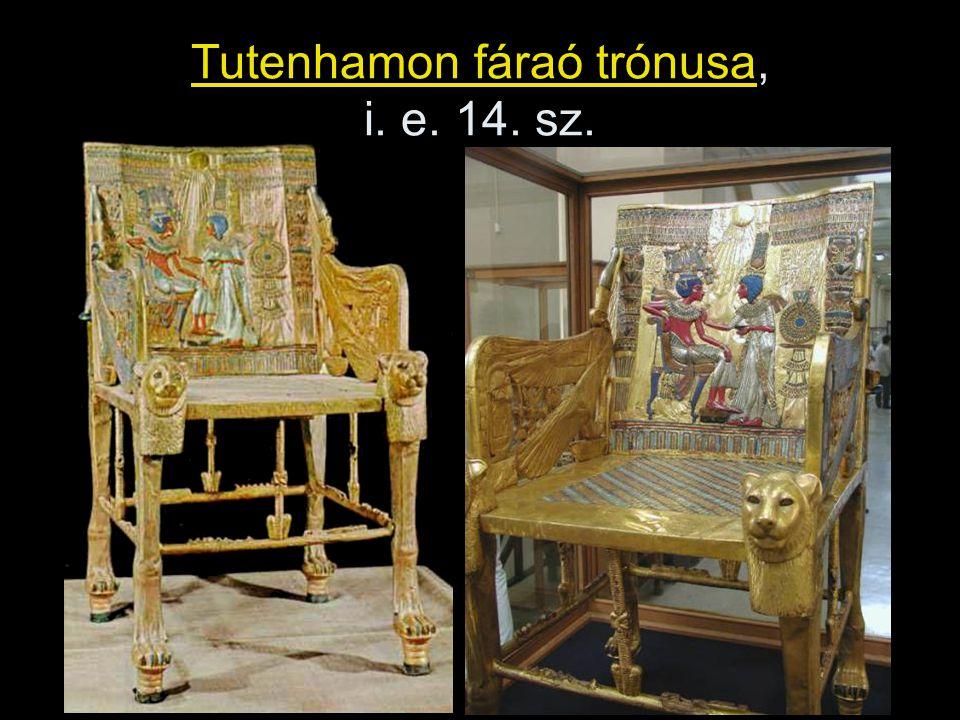 Tutenhamon fáraó trónusa, i. e. 14. sz.