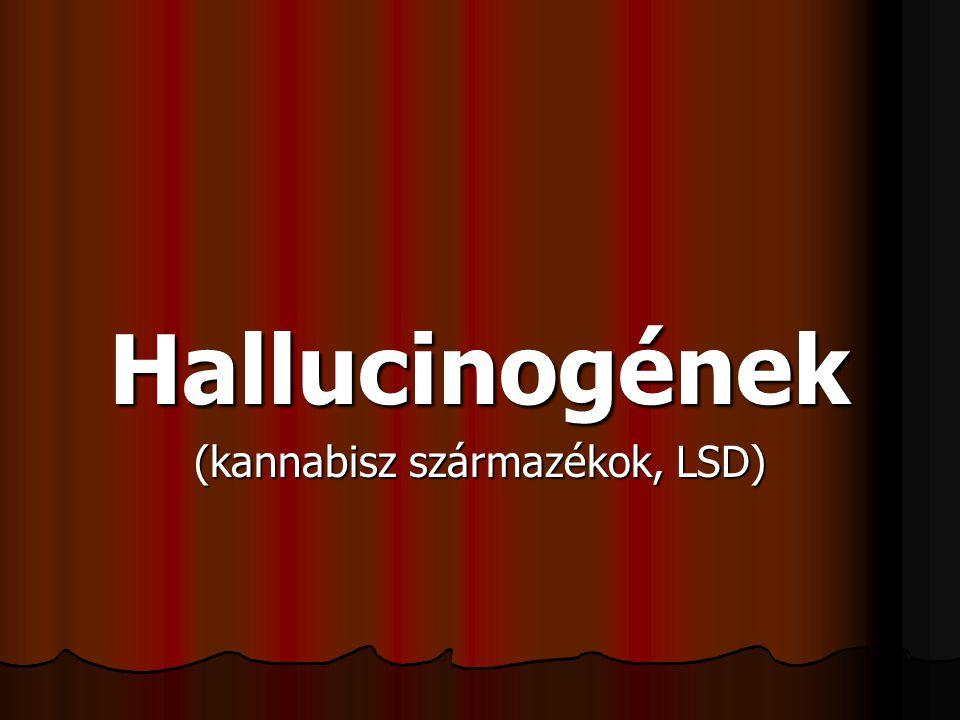 Hallucinogének (kannabisz származékok, LSD)