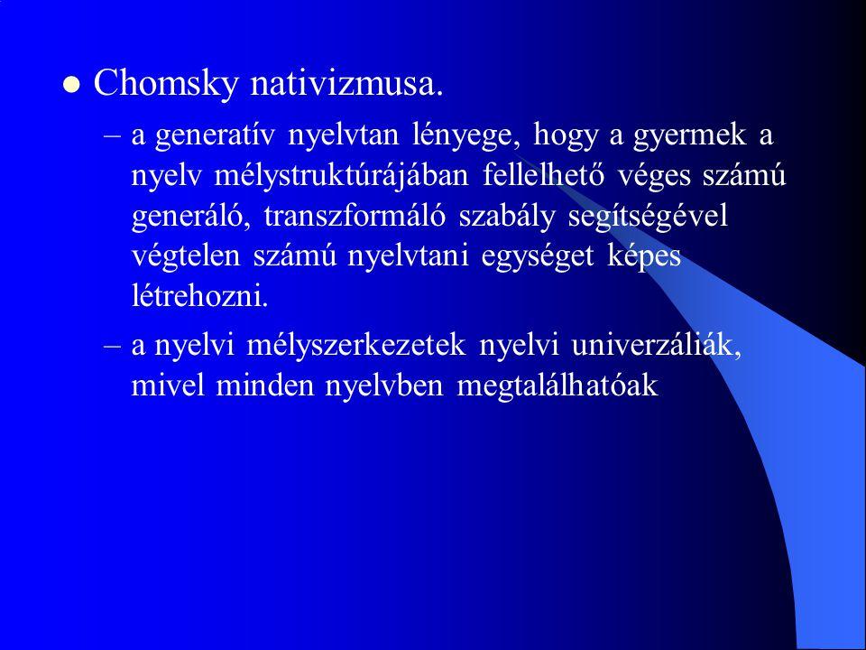 Chomsky nativizmusa.
