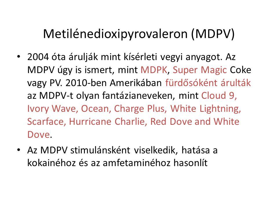Metilénedioxipyrovaleron (MDPV) 2004 óta árulják mint kísérleti vegyi anyagot. Az MDPV úgy is ismert, mint MDPK, Super Magic Coke vagy PV. 2010-ben Am