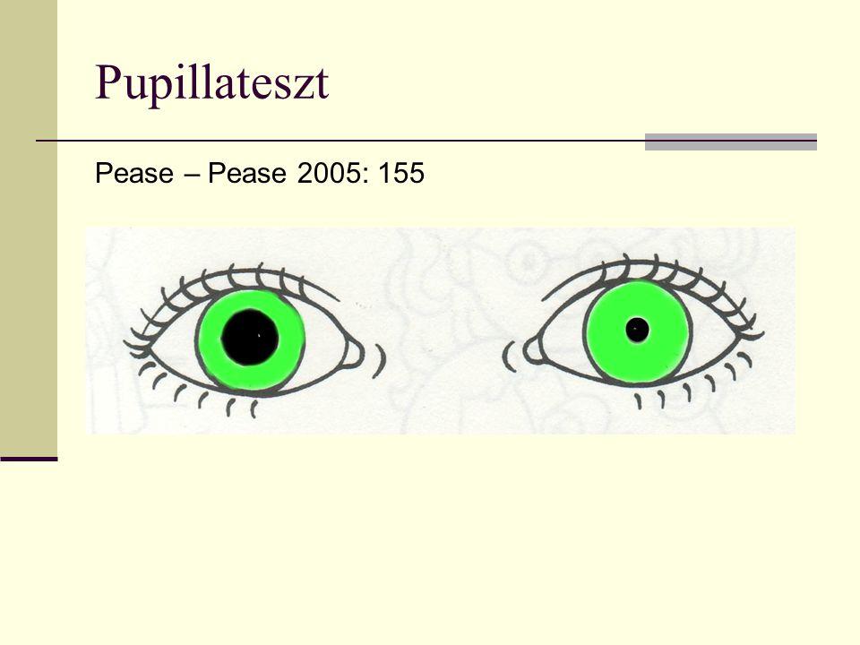 A szem jelzései Az embernek mint főemlősnek van egyedül szemfehérjéje.