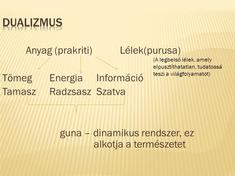 Guna – tapasztalati ligág 23 összetevője alakul ki.