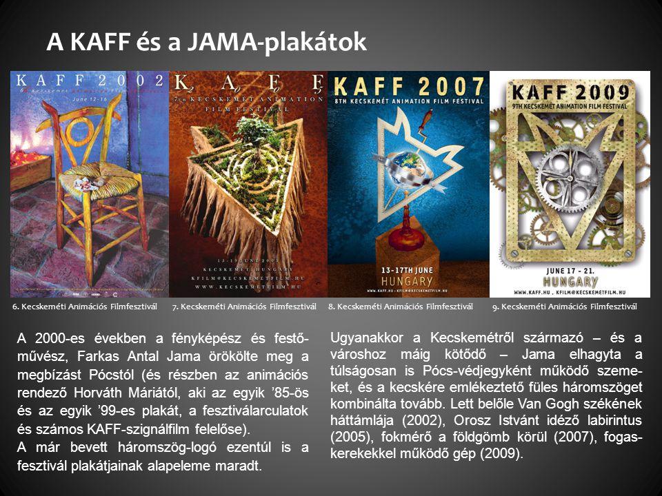 A 2000-es években a fényképész és festő- művész, Farkas Antal Jama örökölte meg a megbízást Pócstól (és részben az animációs rendező Horváth Máriától, aki az egyik '85-ös és az egyik '99-es plakát, a fesztiválarculatok és számos KAFF-szignálfilm felelőse).