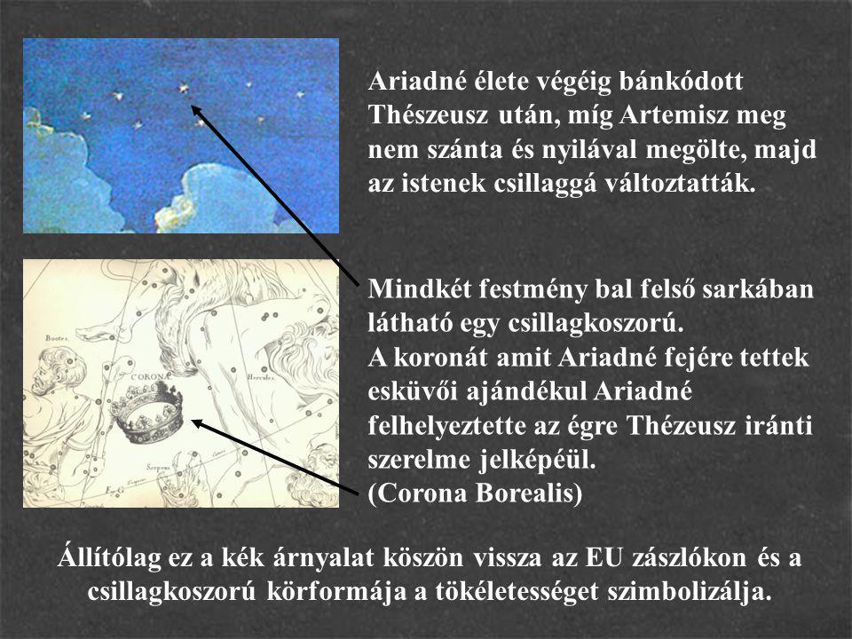 Ariadné élete végéig bánkódott Thészeusz után, míg Artemisz meg nem szánta és nyilával megölte, majd az istenek csillaggá változtatták. Mindkét festmé