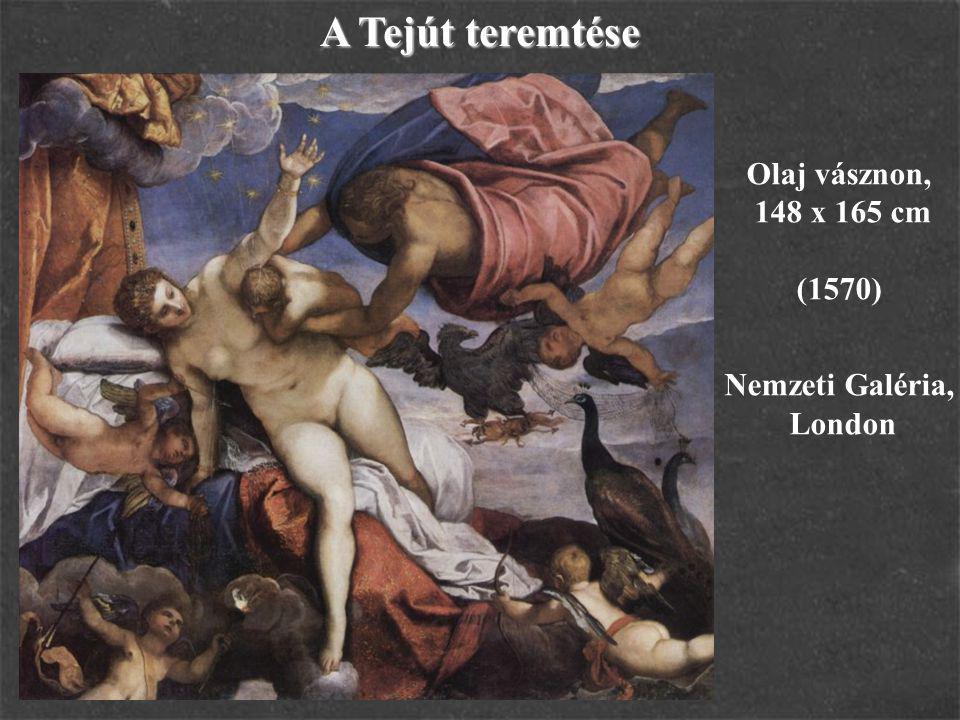 A Tejút teremtése Olaj vásznon, 148 x 165 cm (1570) Nemzeti Galéria, London