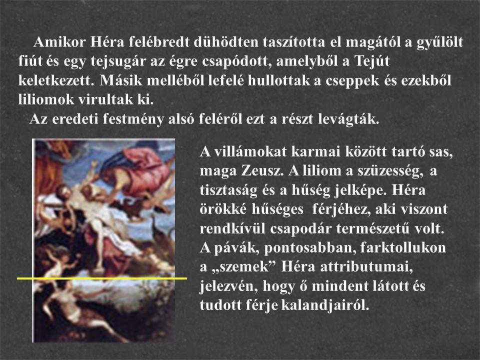 A témát Rubens is megfestette: A kép hátterében Héliosz, a Napisten és szekere látható.