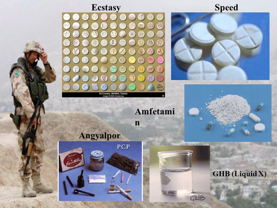 GHB (Liquid X) SpeedEcstasy Amfetami n Angyalpor