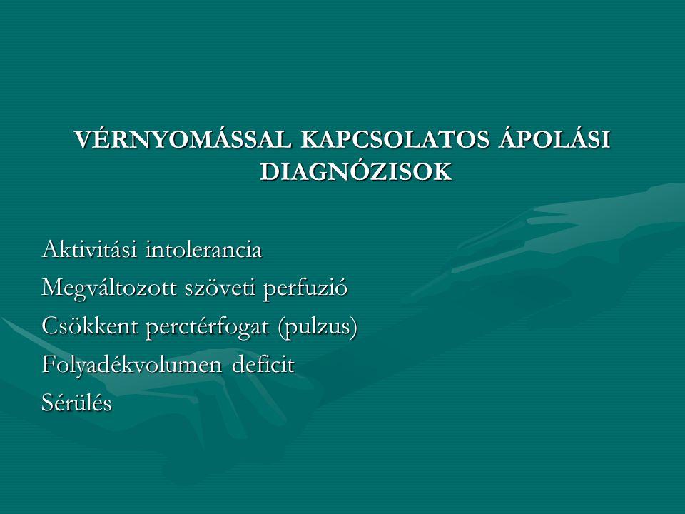 ORTOSTATIKUS HYPOTENSIO regisztrálásakor fel kell tüntetni a testhelyzetet kell tüntetni a testhelyzetet Pl: fekve140/80 ülve132-72 állva108/60 A test