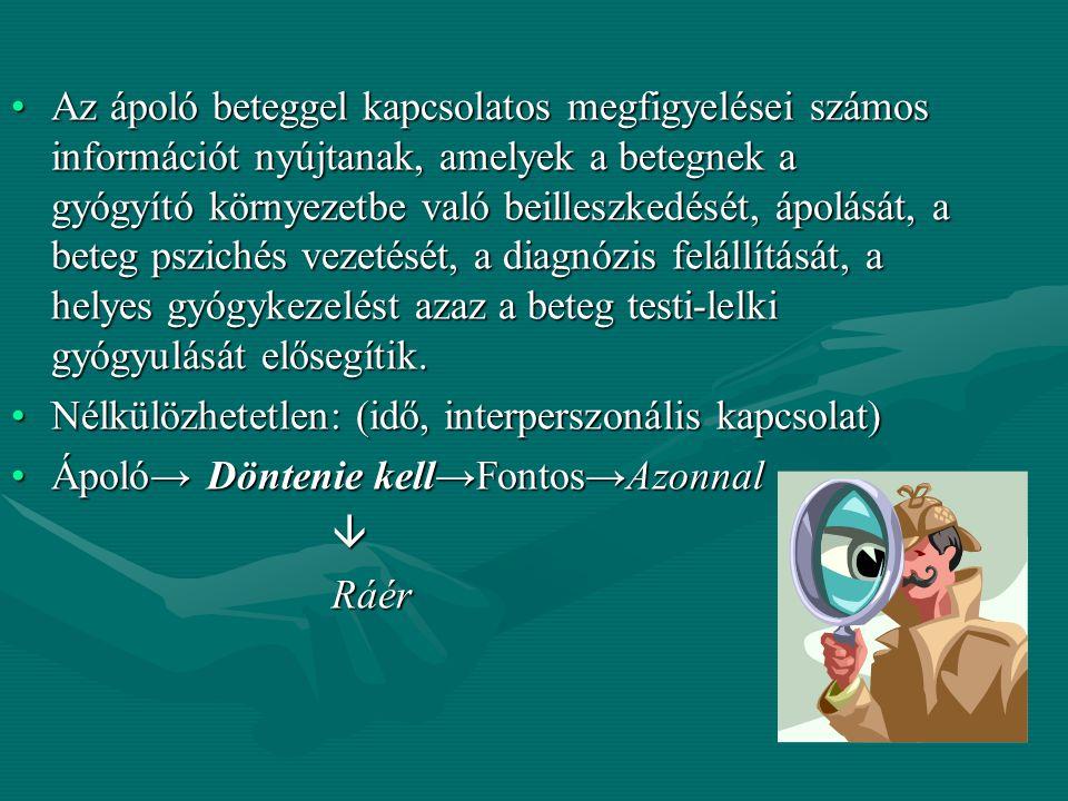Betegmegfigyelés Krajczár Ferencné