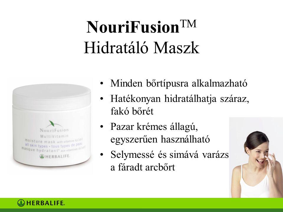 NouriFusion TM Hidratáló Maszk Minden bőrtípusra alkalmazható Hatékonyan hidratálhatja száraz, fakó bőrét Pazar krémes állagú, egyszerűen használható Selymessé és simává varázsolhatja a fáradt arcbőrt