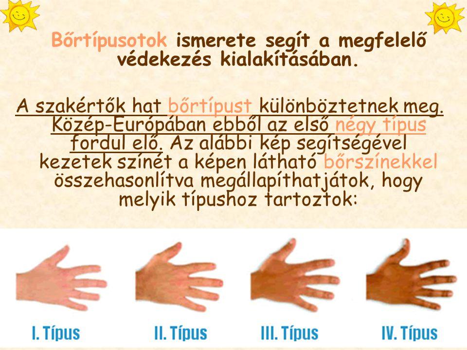 A négy bőrtípus jellemző tulajdonságai JellegzetességekI.