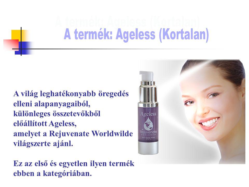 A világ leghatékonyabb öregedés elleni alapanyagaiból, különleges összetevőkből előállított Ageless, amelyet a Rejuvenate Worldwilde világszerte ajánl.