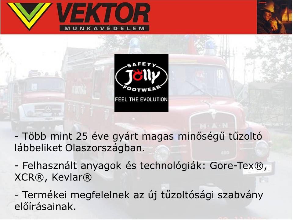 - Több mint 25 éve gyárt magas minőségű tűzoltó lábbeliket Olaszországban. - Felhasznált anyagok és technológiák: Gore-Tex®, XCR®, Kevlar® - Termékei