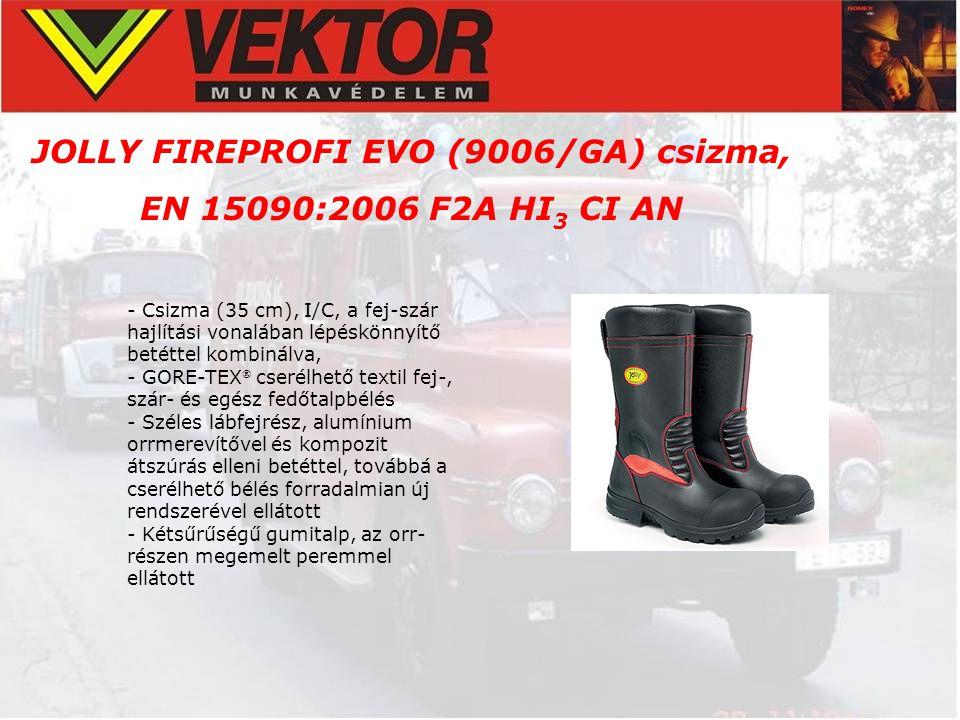 JOLLY FIREPROFI EVO (9006/GA) csizma, EN 15090:2006 F2A HI 3 CI AN - Csizma (35 cm), I/C, a fej-szár hajlítási vonalában lépéskönnyítő betéttel kombin