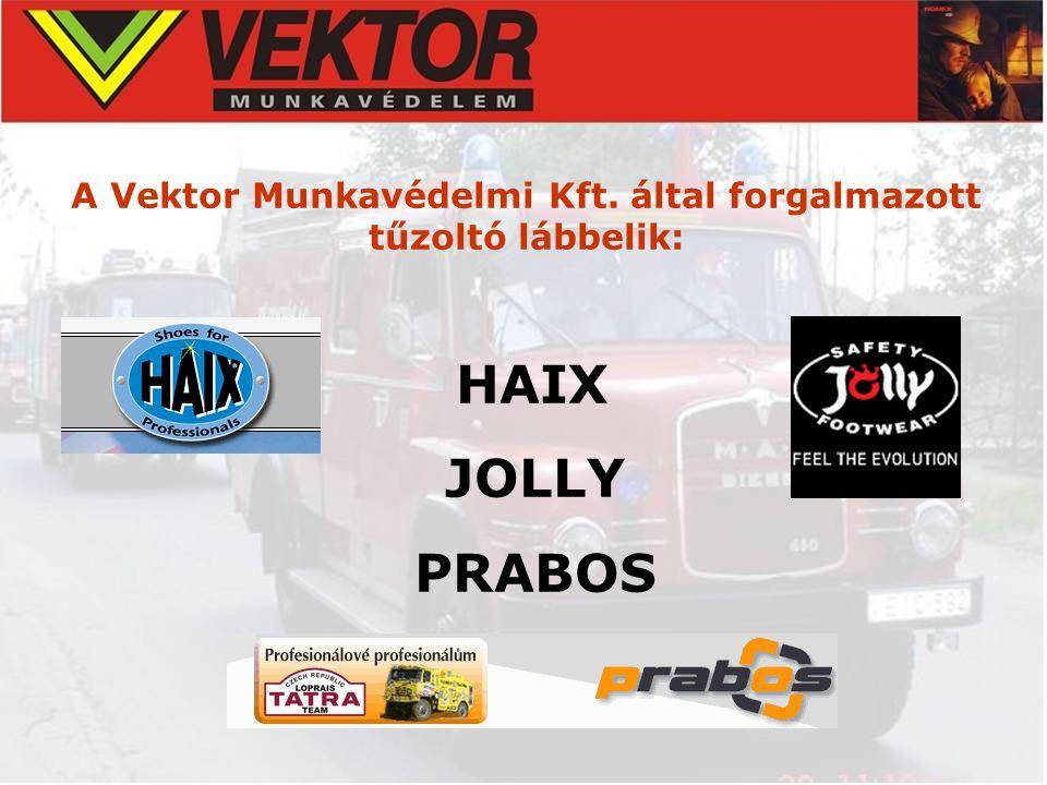 A Vektor Munkavédelmi Kft. által forgalmazott tűzoltó lábbelik: HAIX JOLLY PRABOS