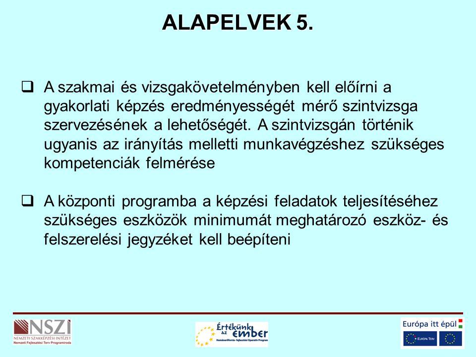 ALAPELVEK 5.