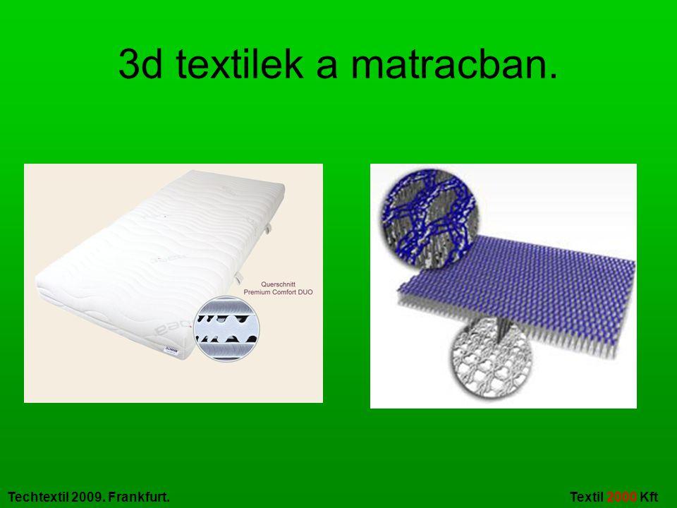 Techtextil 2009. Frankfurt. Textil 2000 Kft 3d textilek a divatruházatban.