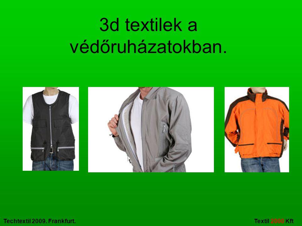 Techtextil 2009. Frankfurt. Textil 2000 Kft Néhány innovativ ruházati ötlet.