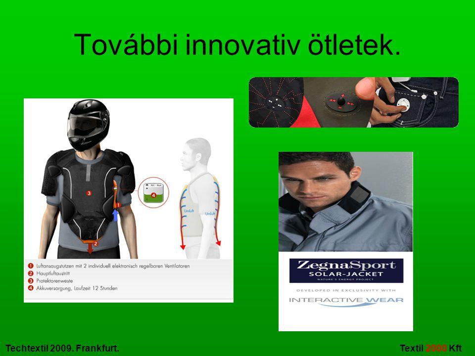 Techtextil 2009. Frankfurt. Textil 2000 Kft További innovativ ötletek.