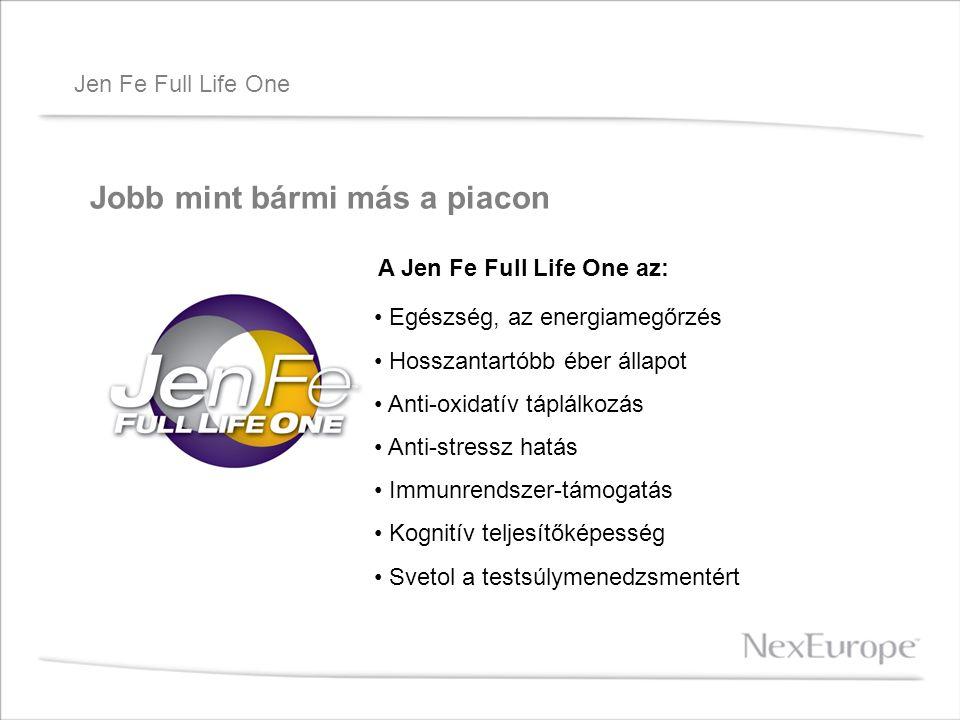 Jen Fe Full Life One Jobb mint bármi más a piacon A Jen Fe Full Life One az: Egészség, az energiamegőrzés Hosszantartóbb éber állapot Anti-oxidatív tá