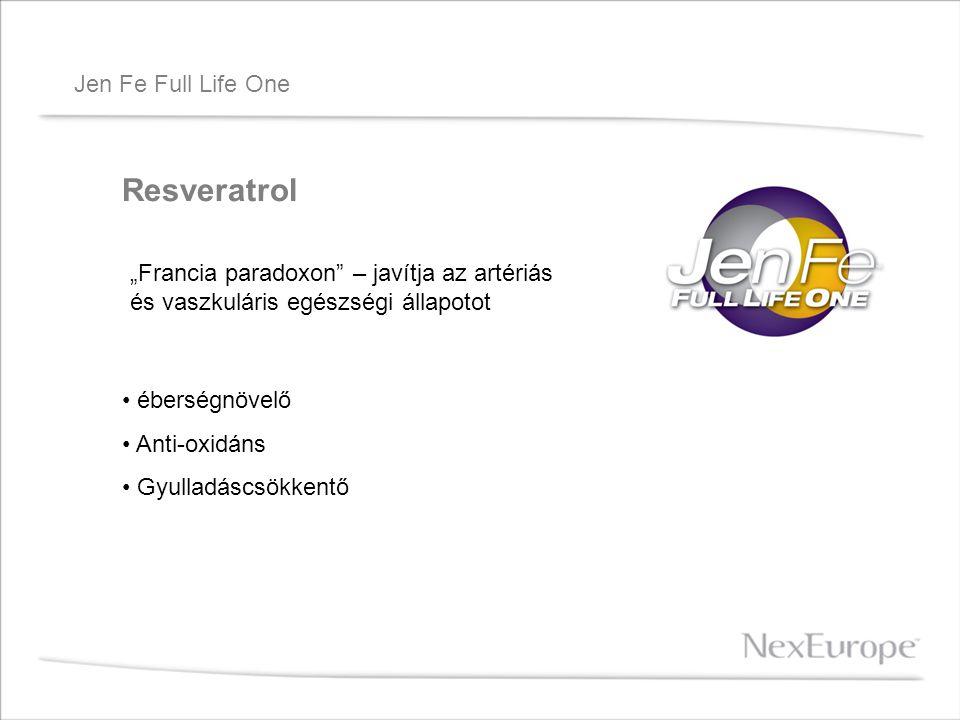 """Jen Fe Full Life One Resveratrol """"Francia paradoxon"""" – javítja az artériás és vaszkuláris egészségi állapotot éberségnövelő Anti-oxidáns Gyulladáscsök"""