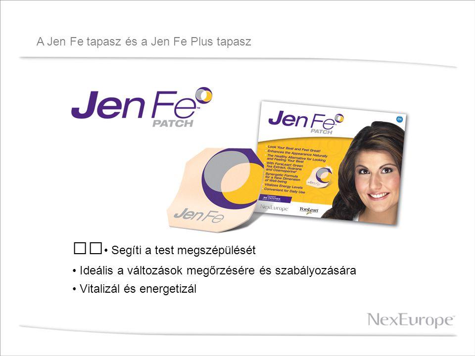 A Jen Fe tapasz és a Jen Fe Plus tapasz Jen Fe Patch: A NexEurope ™ új Jen Fe ™ Patch tapasza egy rendkívüli termék, a ForsLean, ® zöldteakivonat, guarana és a Cosmoperine, ® természetes keveréke.