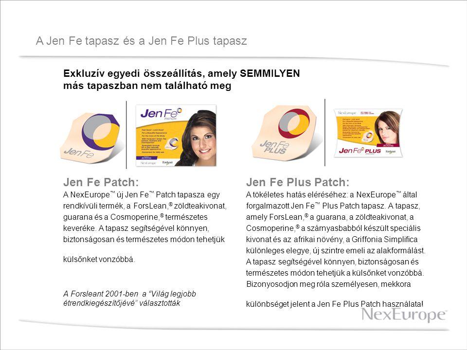 A Jen Fe tapasz és a Jen Fe Plus tapasz Jen Fe Patch: A NexEurope ™ új Jen Fe ™ Patch tapasza egy rendkívüli termék, a ForsLean, ® zöldteakivonat, gua