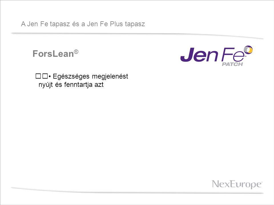 A Jen Fe tapasz és a Jen Fe Plus tapasz ForsLean ® Egészséges megjelenést nyújt és fenntartja azt
