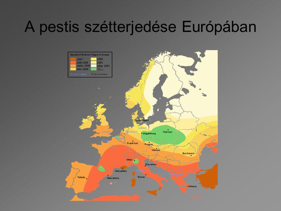 A pestis szétterjedése Európában