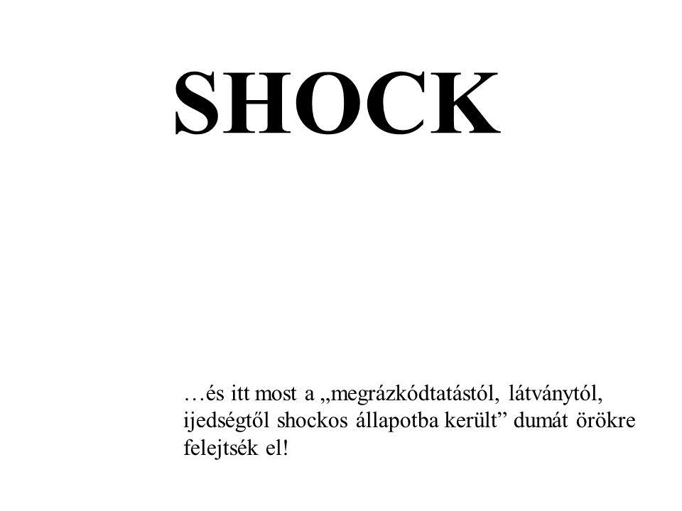 """SHOCK …és itt most a """"megrázkódtatástól, látványtól, ijedségtől shockos állapotba került"""" dumát örökre felejtsék el!"""