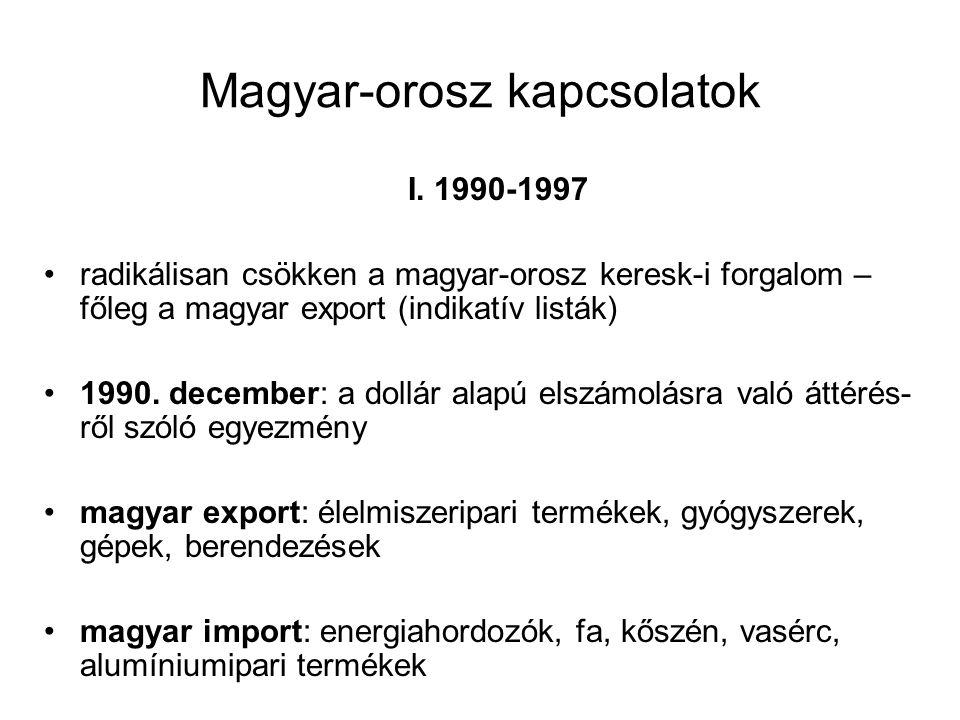 Magyar-orosz kapcsolatok I.
