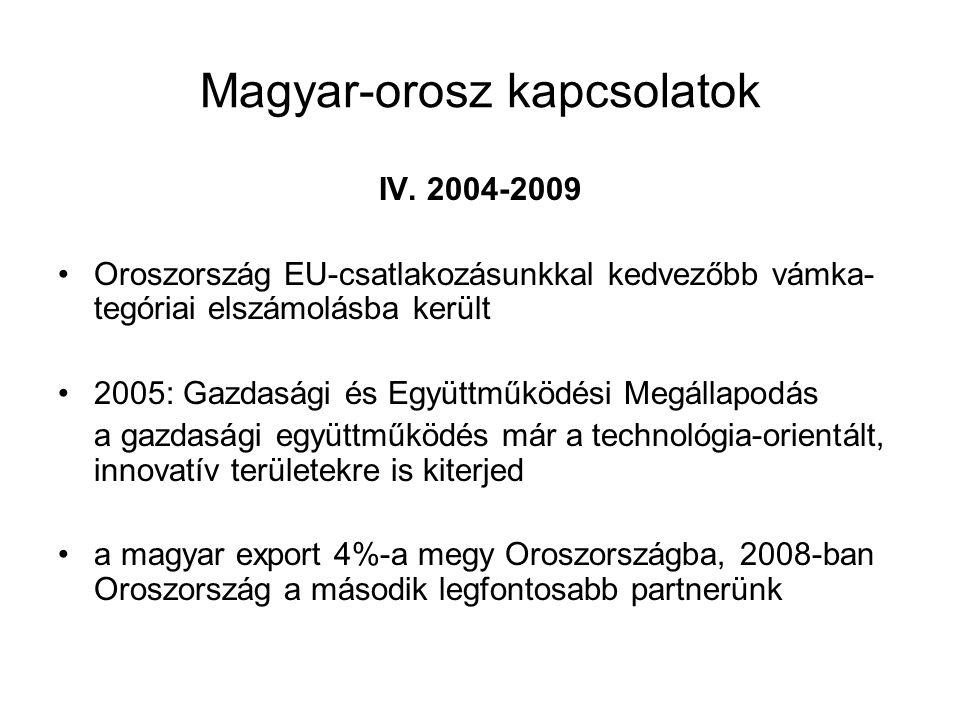 Magyar-orosz kapcsolatok IV.