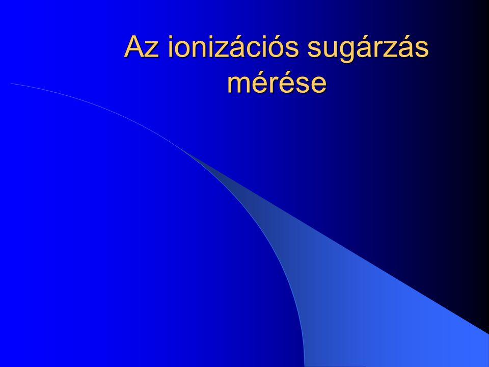 Az ionizációs sugárzás mérése