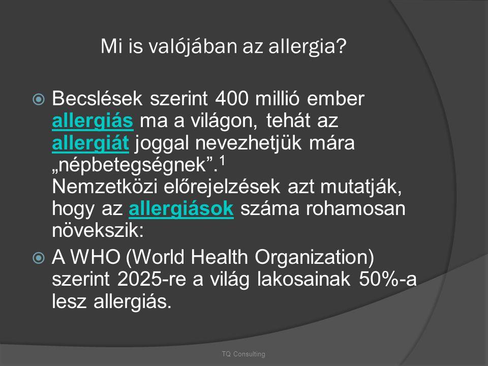 """Mi is valójában az allergia?  Becslések szerint 400 millió ember allergiás ma a világon, tehát az allergiát joggal nevezhetjük mára """"népbetegségnek""""."""