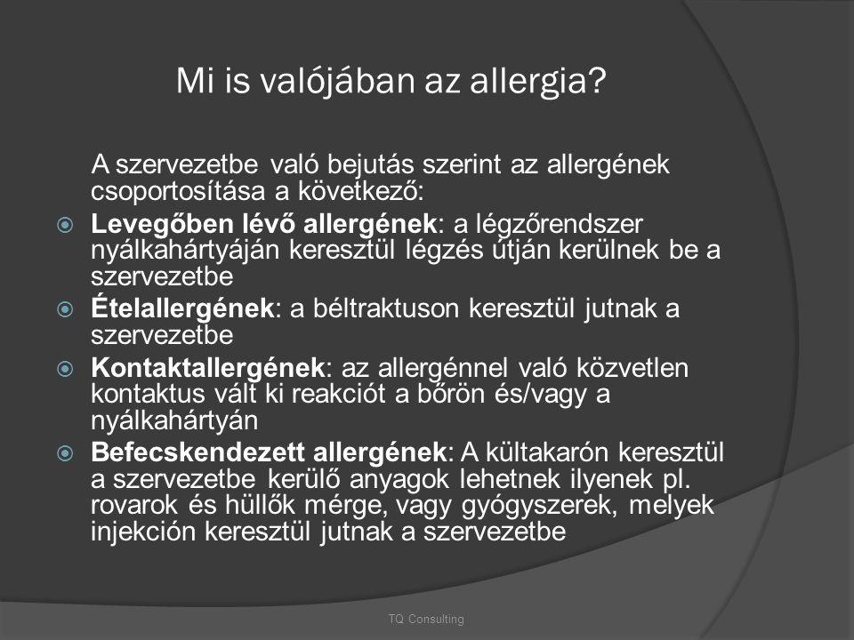 Mi is valójában az allergia? A szervezetbe való bejutás szerint az allergének csoportosítása a következő:  Levegőben lévő allergének: a légzőrendszer